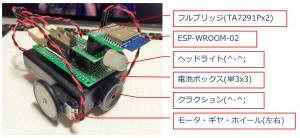 ESP-WROOM-02 Wi-Fiラジコンカー