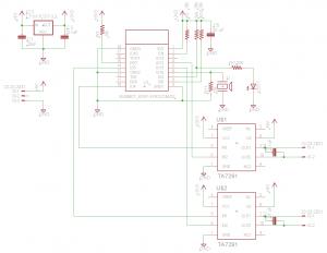ESP-WROOM-02 Wi-Fiラジコンカー回路図