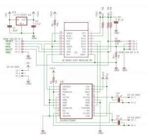 ESP-WROOM-02 ラジコン受信機 回路図
